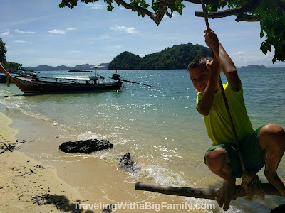 Visiting the islands near Krabi, Thailand