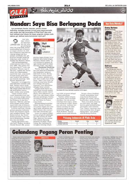 PIALA ASIA 2000: NANDAR INDONESIA