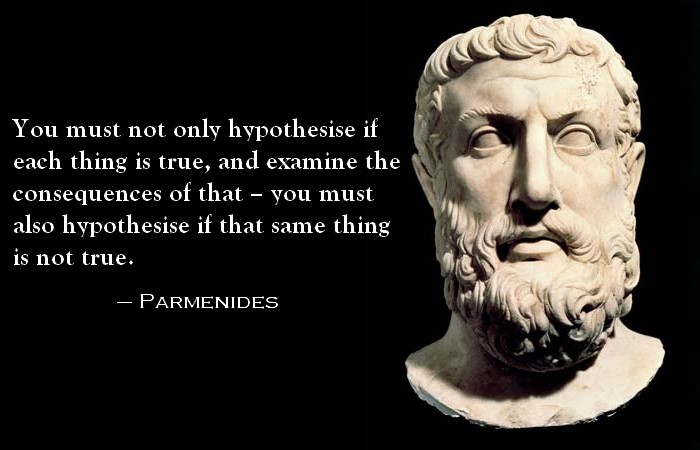 """Did Parmenides Explain the """"Matrix"""" of Reality 2500 years ago, or miss the mark?"""