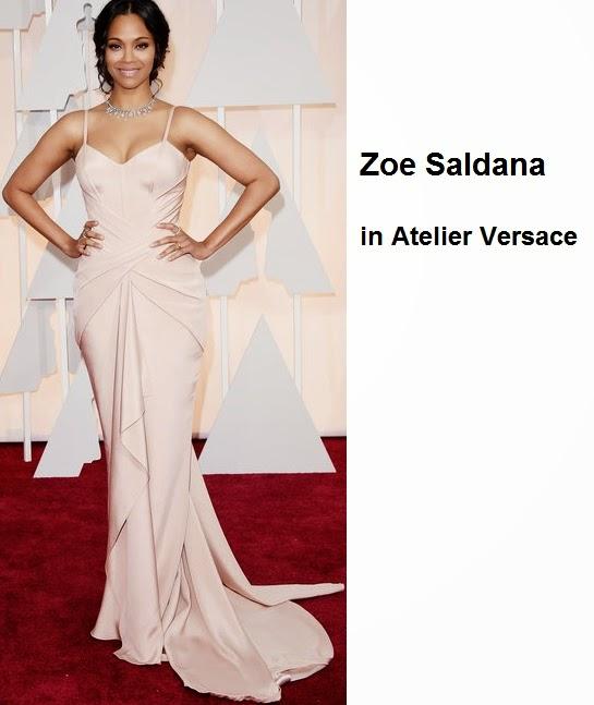 Zoe%2BSaldana%2Bin%2BAtelier%2BVersace - Look Óscares 2015