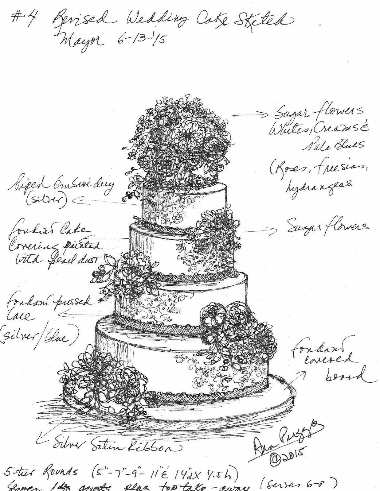 sketches of wedding cakes for the of cake by garry amp parzych 20176
