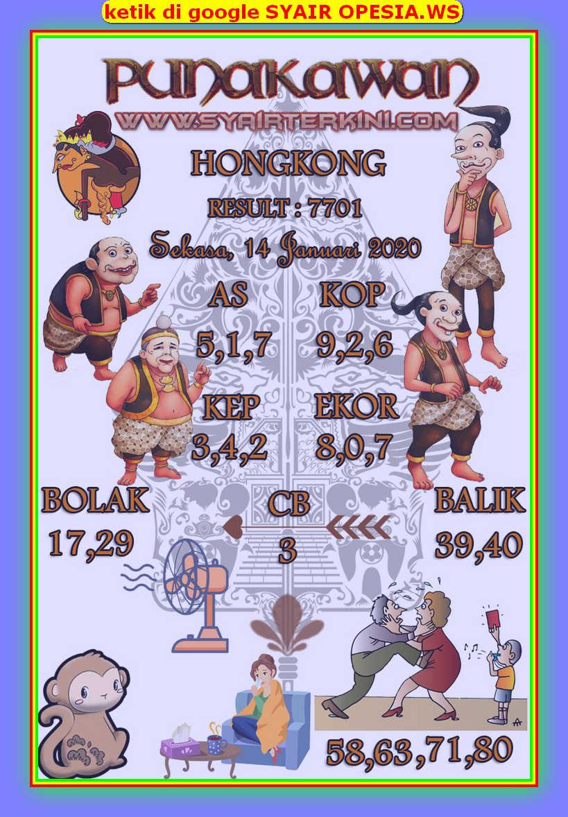 Kode syair Hongkong Selasa 14 Januari 2020 98