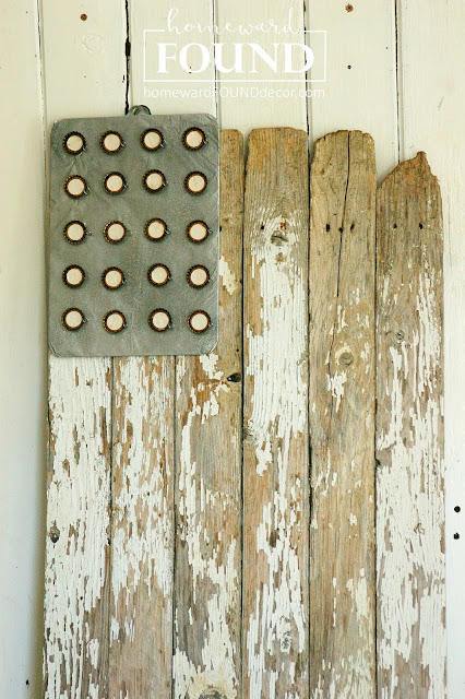 fourth of July, flag, patriotic, flag wall art, flag art, beach style, farmhouse, neutrals, repurposing, junk, salvaged wood