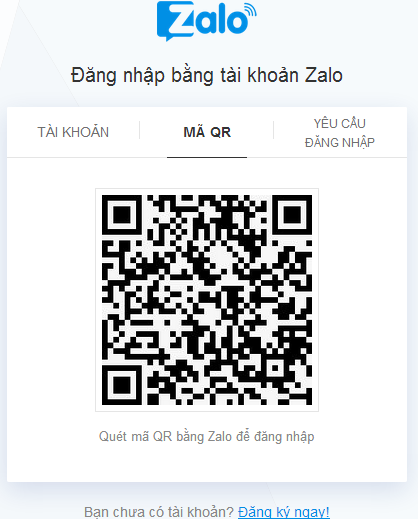 Đăng nhập Zalo bằng số điện thoại di động trên Máy tính h
