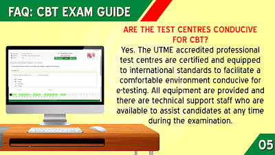 ARE THE JAMB TEST CENTRES CONDUCIVE FOR CBT?