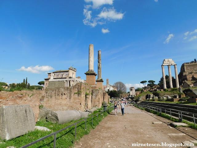 Римский Форум - почётные колонны