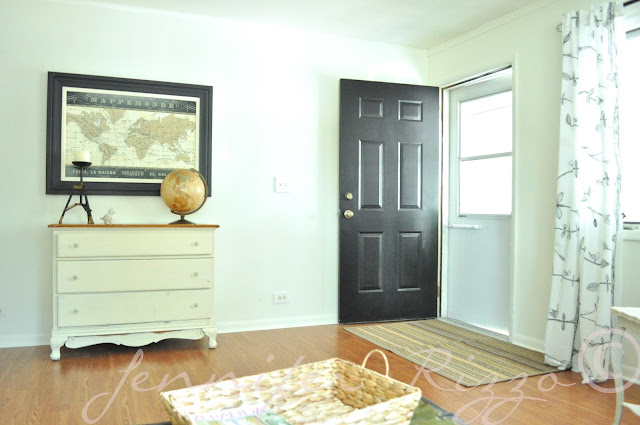 Jennifer Rizzo front door painted black