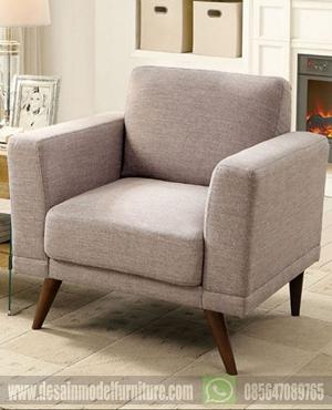 Kursi sofa retro scandinavian satu dudukan