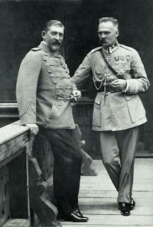 Józef Piłsudski z królem Rumunii - 1922
