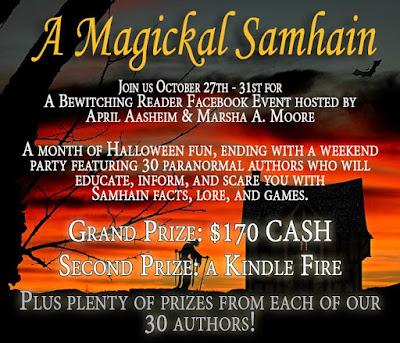A Magickal Samhain event banner, fantasy, paranormal romance authors, supernatural fantasy authors, pagan fiction, witch fiction /></a></div> </div> <div style=