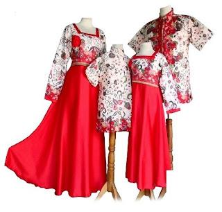 model baju batik couple keluarga dan anak