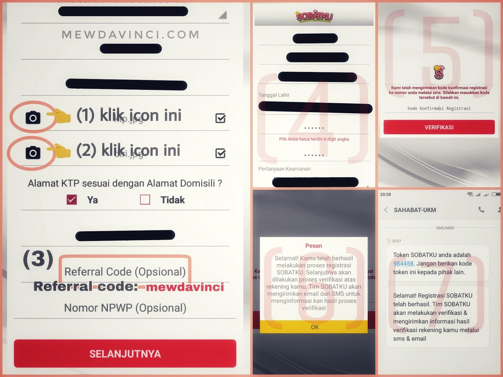 Cara registrasi rekening aplikasi SOBATKU