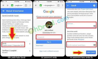 Cara Ganti Password Gmail di Android dan iPhone