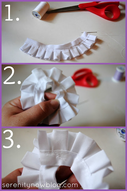 How to Make Fabric Rosette Flowers, Serenity Now blog