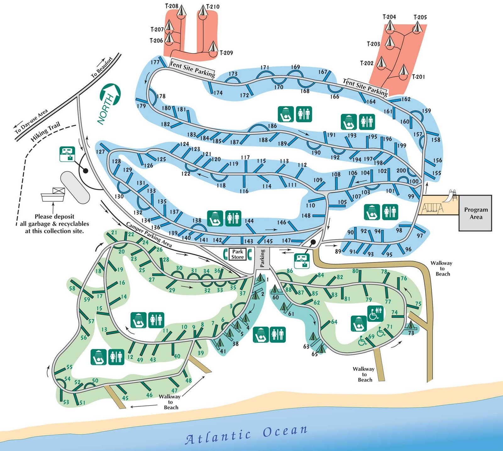Hunting Island Trail Map