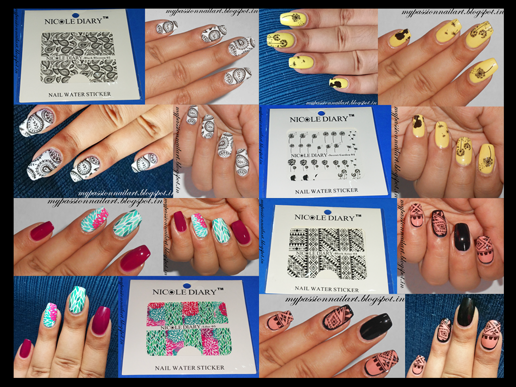 Nail Art My Passion: Review Part 1: Nicole Diary Water Decals