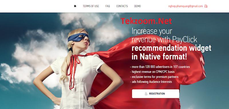Review PayClick - Net CPM, CPC - Net Tuần [NET 7] - Chấp nhận mọi site