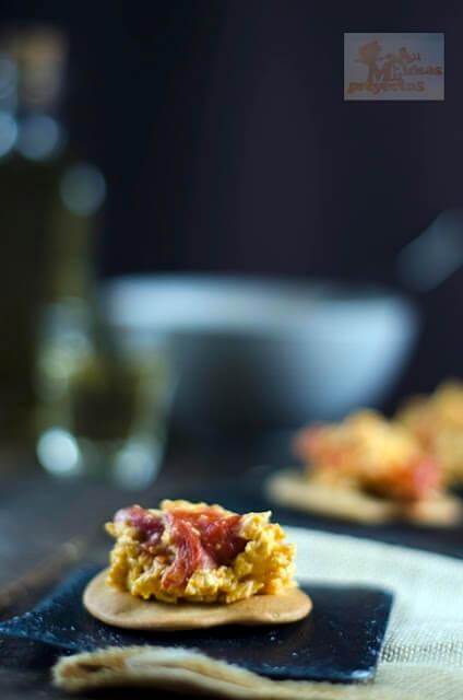 receta de la tosta de revuelto de piperrada con y sin thermomix1