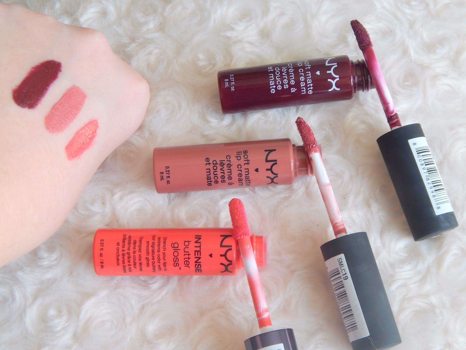 NYX Matte Lip Cream in - Copenhagen, Cannes and Summer Fruits