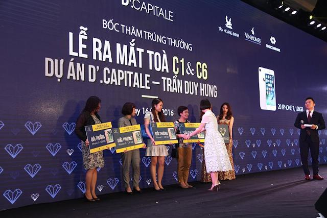 Bốc thăm trúng thưởng Iphone 7 tại Vinhomes Trần Duy Hưng