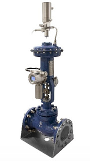 pneumatically actuated control valve with zero bleed controller