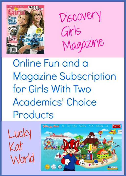 Review of a tween girls magazine and an online game site for kids