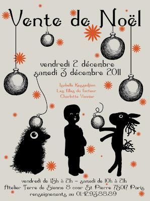 Isabelle Kessedjian: Vente de Noël à l'atelier terre de sienne.