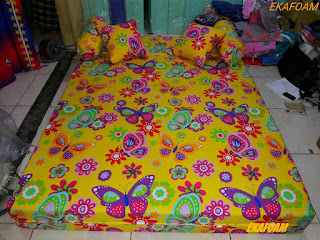 Sofa bed inoac 2016 motif Kupu-Kupu Kuning / yellow butterfly