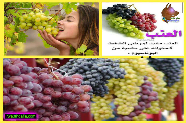 فوائد العنب دواء وغذاء وهل العنب يسبب الاسهال