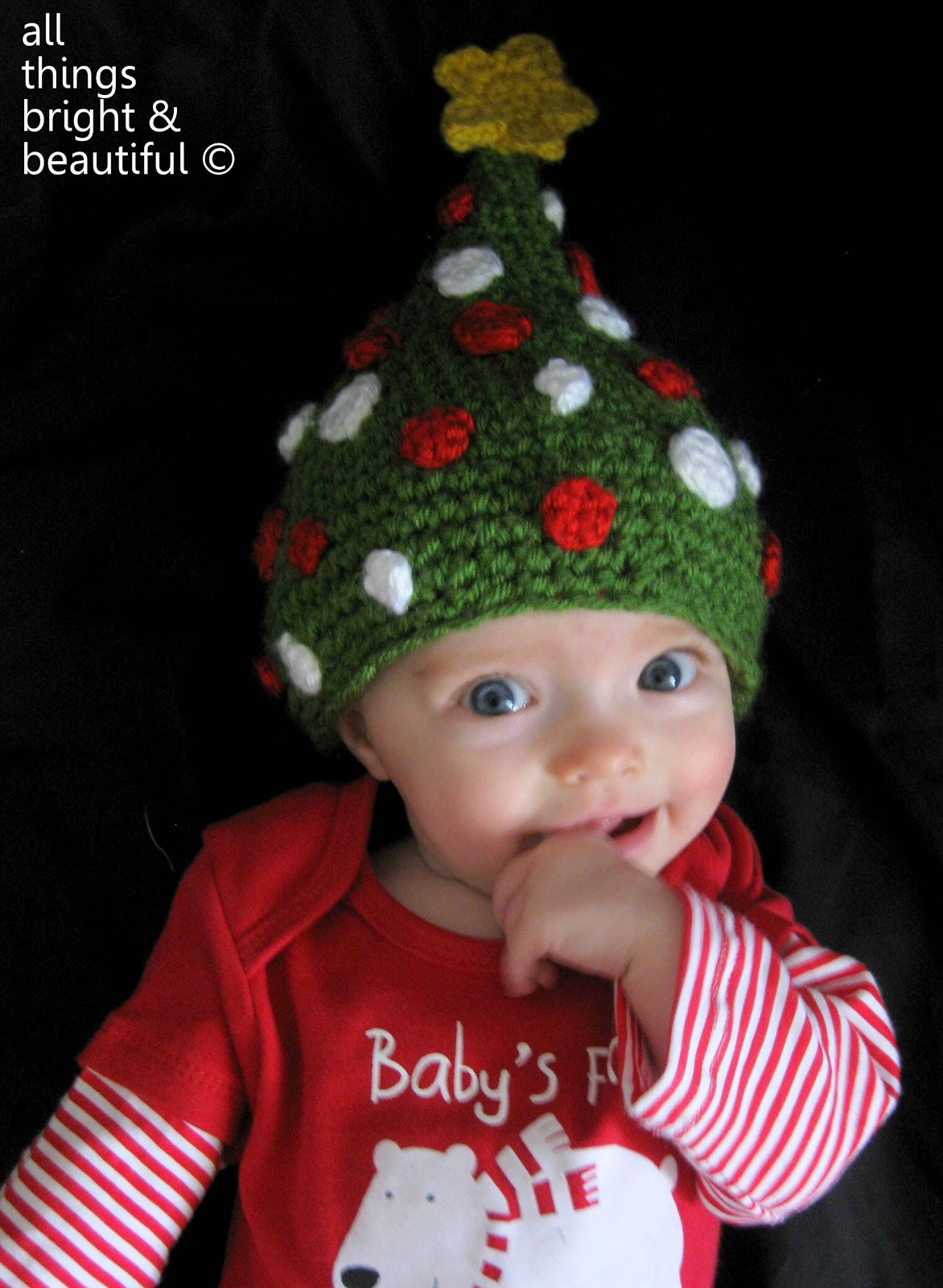 65507028c All Things Bright and Beautiful: Christmas Tree Beanie