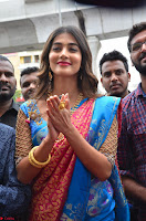 Puja Hegde looks stunning in Red saree at launch of Anutex shopping mall ~ Celebrities Galleries 088.JPG