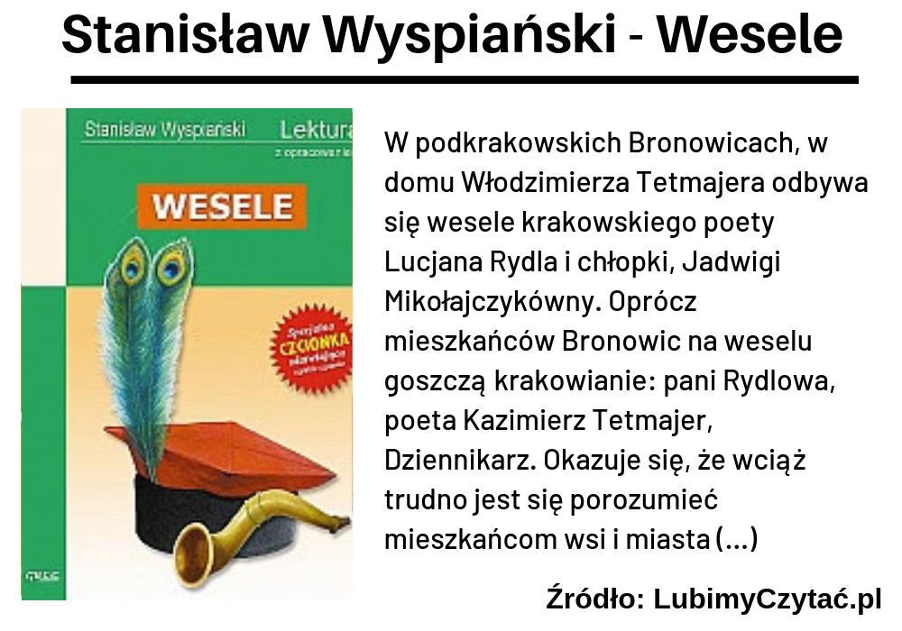 Stanisław Wyspiański, Wesele, TOP 10, Marzenie Literackie