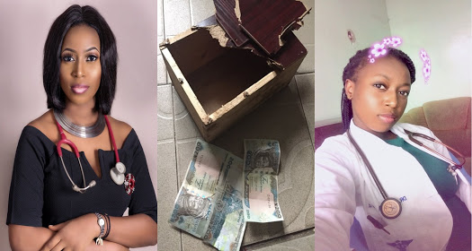 Female Doctor Breaks Piggy Bank Where She Saved Over 30k... she found only N600
