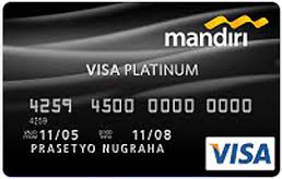 Gambar Contoh Kartu kredit Visa Platinum Mandiri