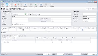Chứng từ vận tải, Container - Phần mềm vận chuyển Logistics