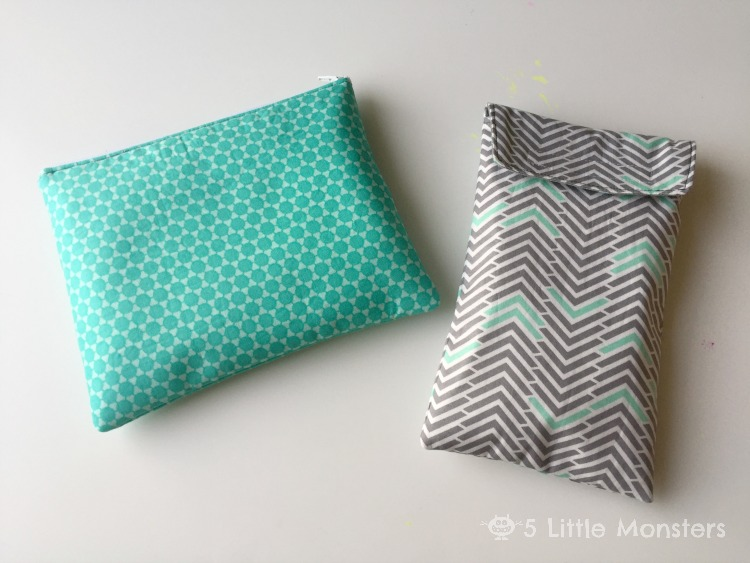 zipper pouch and diaper clutch