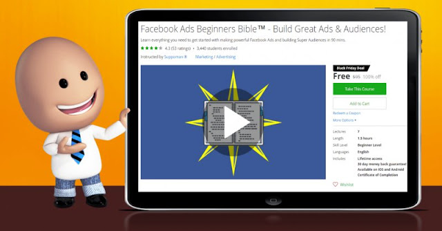 [100% Off] Facebook Ads Beginners Bible™ - Build Great Ads & Audiences!| Worth 95$
