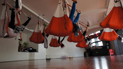 yoga fly flying body