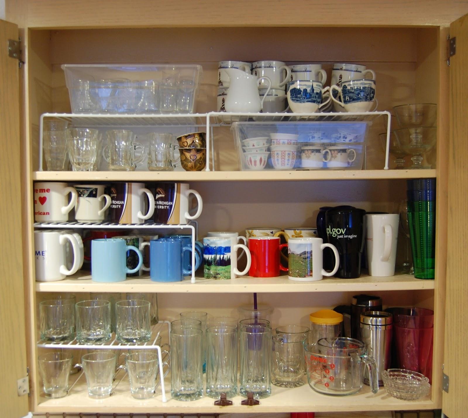 How To Organize Your Kitchen Cabinets: Miscellanea Etcetera: Kitchen Organization Part 3: Glassware