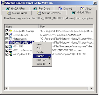 Startup Control Panel V 2.8 for Windows Free Download