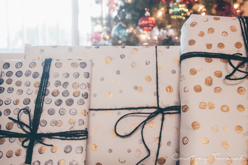 Courtney Tomesch Gift Wrap DIY