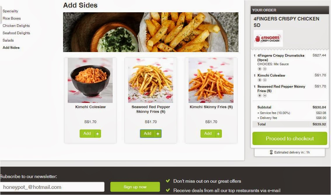 Food Delivery Ideas Singapore