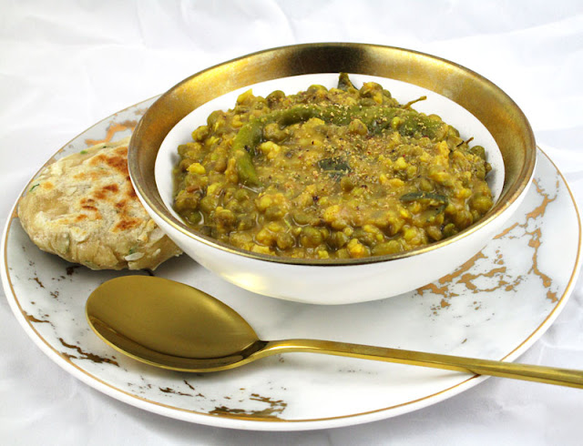 Mung Beans with Cumin, Onion and Ginger