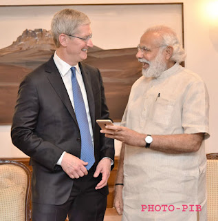 Apple CEO Tim Cook meets Modi: Congratulates him for the election results