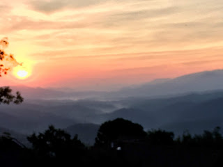 Sunrise in The Tennessee Smokies, overlooking Gatlinburg