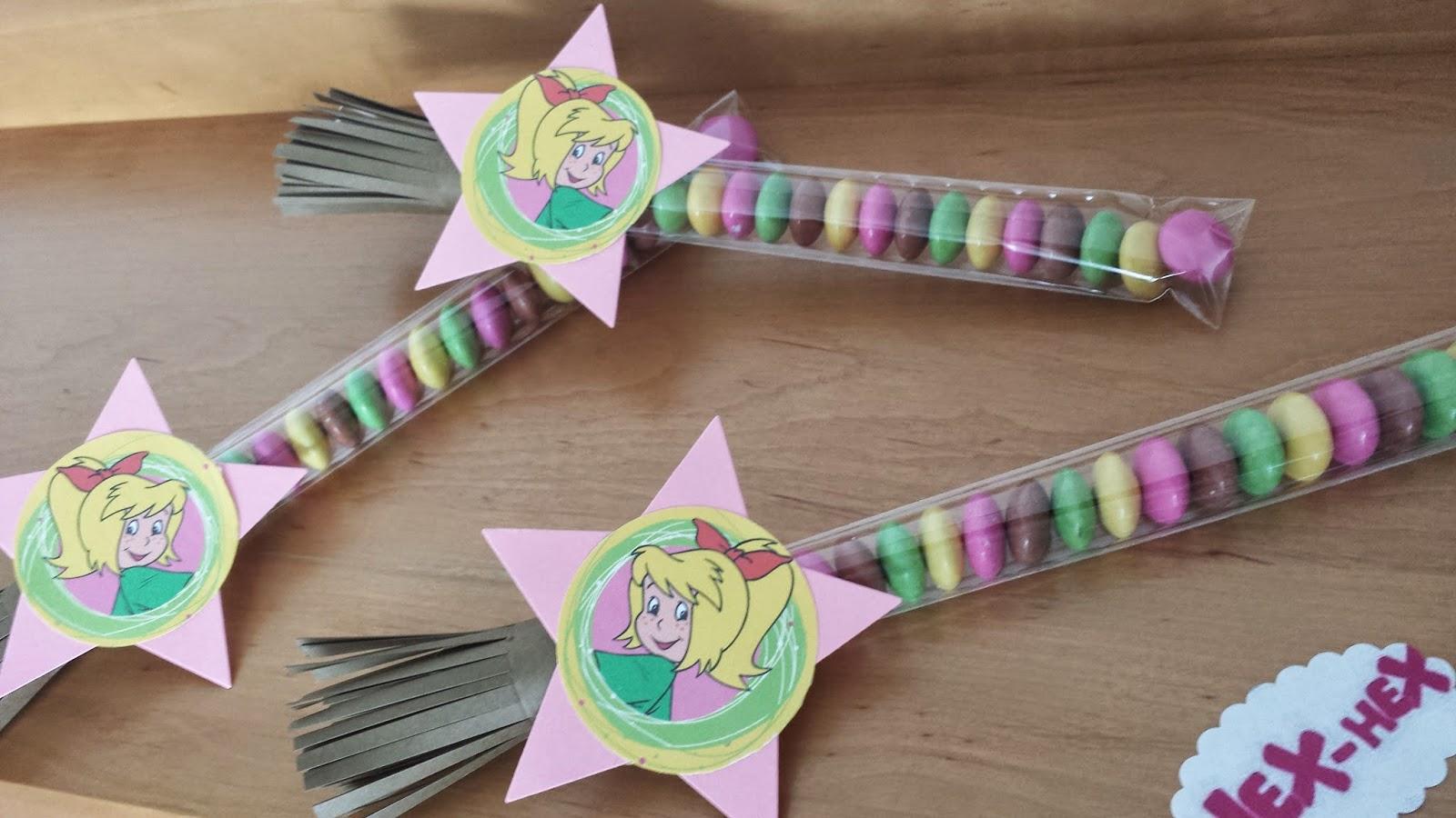 stempeltanten: basteldekoration für kindergeburtstag mit