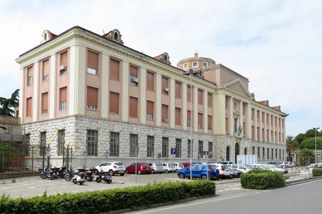 The administrative building of the hospital, Viale Alfieri, Livorno