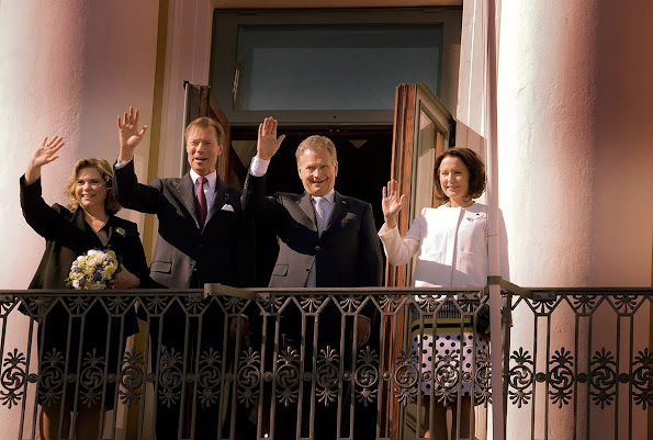 Grand Duke Henri and Grand Duchess Maria Teresa of Luxembourg are on a state visit to Finland
