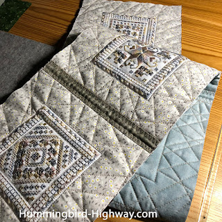 Harganger table runner, ready to bind