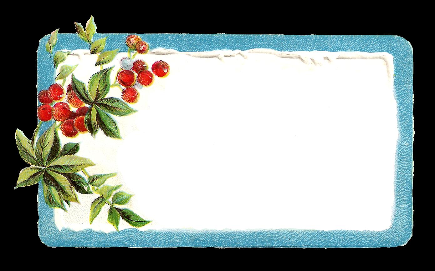 Antique Images: Printable Vintage Christmas Blue Labels and Frames ...